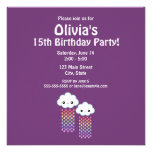 Cute Cloud Birthday Custom Invitations