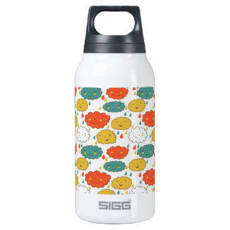 Cute, cloud pattern insulated water bottle