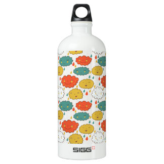 Cute, cloud pattern water bottle