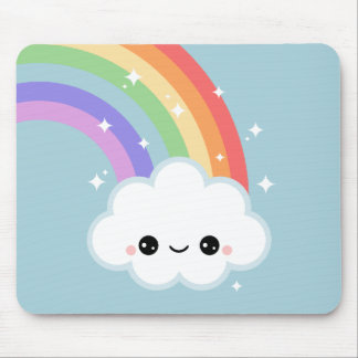 Cute Cloud with Rainbow Mouse Pad