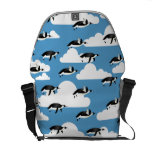 Cute Clouds and Flying Penguins Commuter Bag