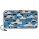 Cute Clouds and Flying Penguins Laptop Speaker