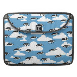 Cute Clouds and Flying Penguins MacBook Pro Sleeves