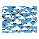 Cute Clouds and Flying Penguins Photo Cutouts