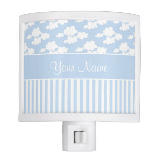 Cute Clouds and Stripes Night Light