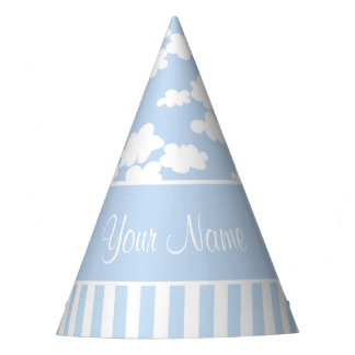 Cute Clouds and Stripes Party Hat