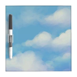 Cute Clouds Dry Erase Board