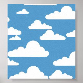 Cute Clouds Poster