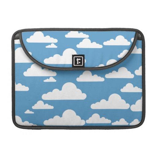 Cute Clouds Sleeve For MacBooks