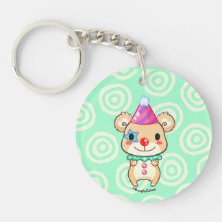 Cute Clown Bear Acrylic Keychain