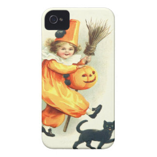 Cute Clown Black Cat Jack O Lantern Case-Mate iPhone 4 Case