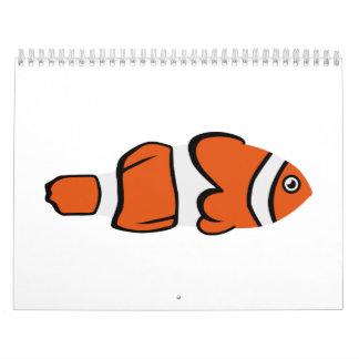 Cute clown fish calendar