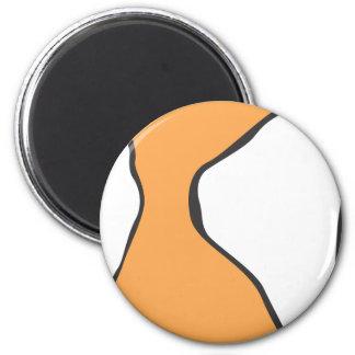 Cute Clown Fish Orange Skin Pattern 2 Inch Round Magnet