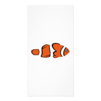Cute clown fish personalized photo card