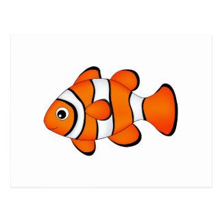 cute clown fish postcard