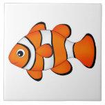 cute clown fish tile