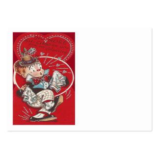 Cute Clown Flower Sneeze Heart Valentine Large Business Card