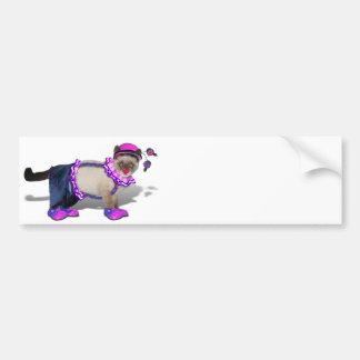 Cute Clown Kitty Bumper Sticker