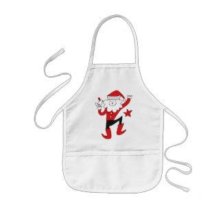 Cute Clown Santa Claus Aprons