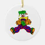 Cute clown with flowers ornament