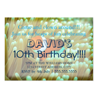 Cute Clownfish Birthday Invitations