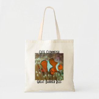 Cute Clownfish Great Barrier Reef Coral Sea Tote Bag