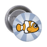 Cute Clownfish Pinback Buttons