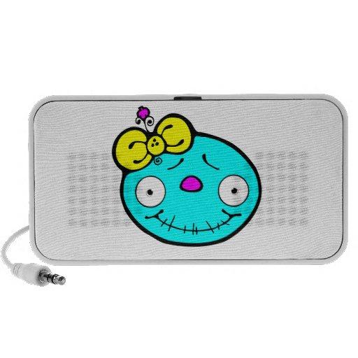 cute cmyk baby skeleton girl travel speaker