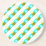 cute CMYK cartoon bumble bee Coasters