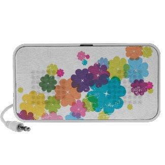 Cute CMYK flower pattern doodle speaker doodle