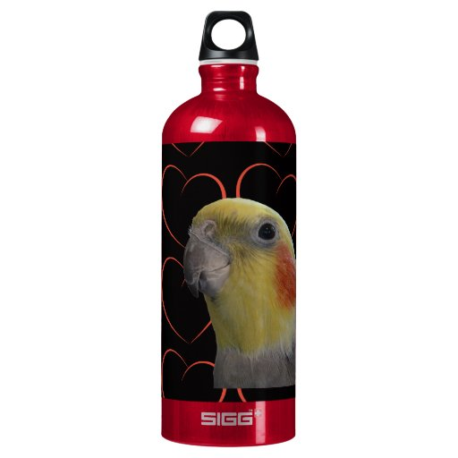 Cute Cockatiel and Hearts SIGG Traveler 1.0L Water Bottle