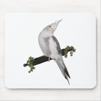 Cute Cockatiel on Ivy Perch Mouse Pad