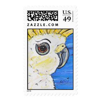 Cute Cockatoo postage stamp