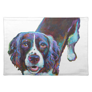 Cute Cocker Spaniel by Robert Phelps Cloth Placemat