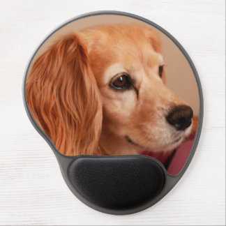 cute cocker spaniel golden side view gel mouse pad