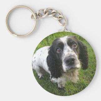 Cute Cocker Spaniel Basic Round Button Keychain