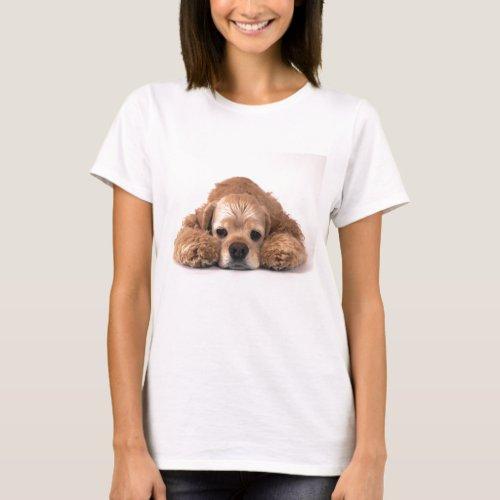 Cute Cocker Spaniel T_Shirt