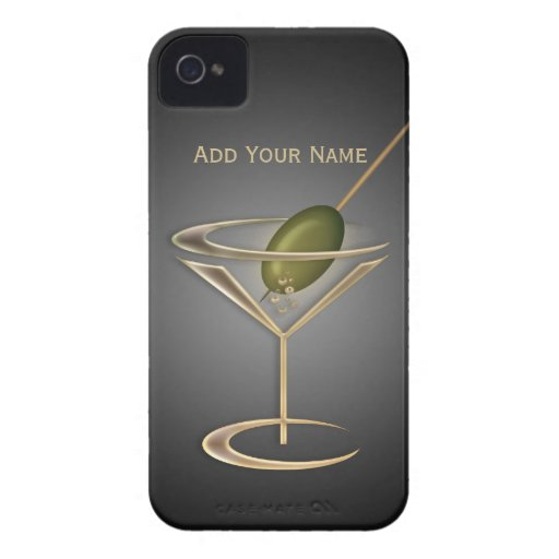 Cute Cocktails Personalized iPhone 4 Case