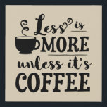 "Cute coffee bar word art decor faux canvas print<br><div class=""desc"">design by www.etsy.com/Shop/SanqunettiDesigns</div>"
