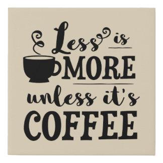 Cute coffee bar word art decor faux canvas print