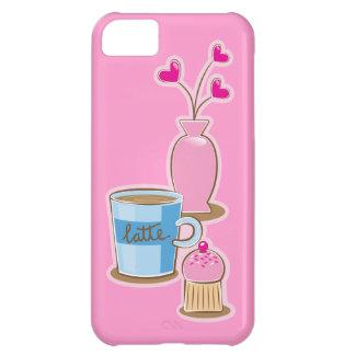 Cute coffee break with latte flowers hearts iPhone 5C case