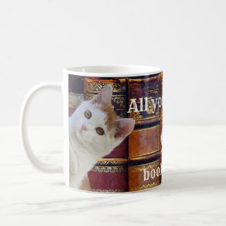 Cute Coffee Cats and Books Mug