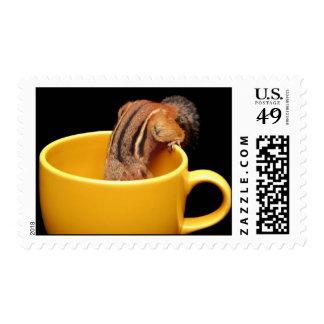 Cute Coffee Cup Chipmunk Postage