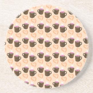 Cute coffee cups Hot Chocolate Coaster