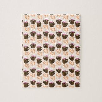 Cute coffee cups Hot Chocolate Jigsaw Puzzle