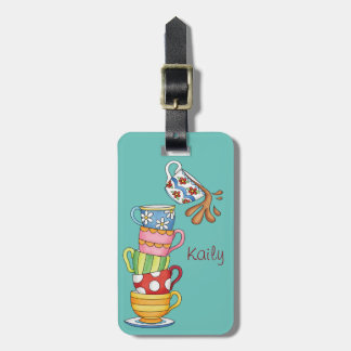 Cute Coffee Cups Luggage Tag