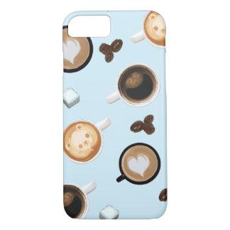 Cute coffee cups pattern case