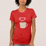 Cute Coffee Mug Cartoon, Coffee Lover Tee Shirt
