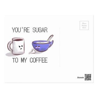 CUTE COFFEE MUG POSTCARD