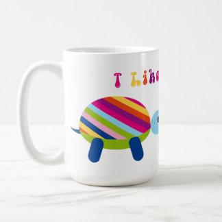 Cute Coffee Mugs I Like Turtles Cartoon Colorful